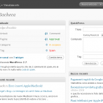 Screenshot dell'interfaccia di amministrazione WordPress 2.7