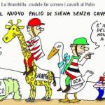 La Brambilla contro il Palio di Siena